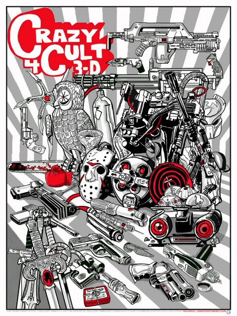 Crazy 4 Cult show poster now on sale-