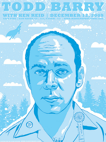Todd Barry GigPoster by Clint Wilson!