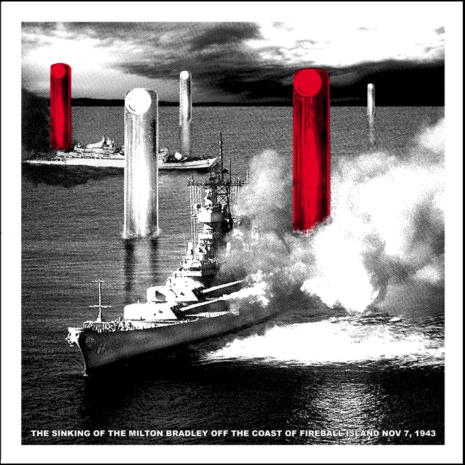The Sinking of the Milton Bradley print by Doyle