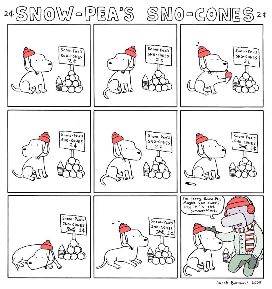 Creebobby Tuesdays! Snow-Pea's Snow Cones!