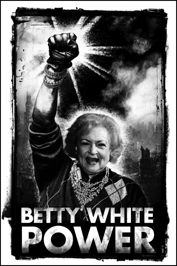 Betty White Power- print by Omar Hauksson