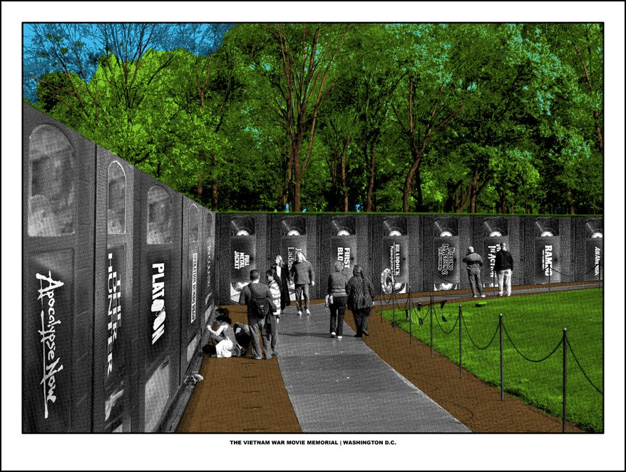 The Vietnam War Movie Memorial print by Doyle