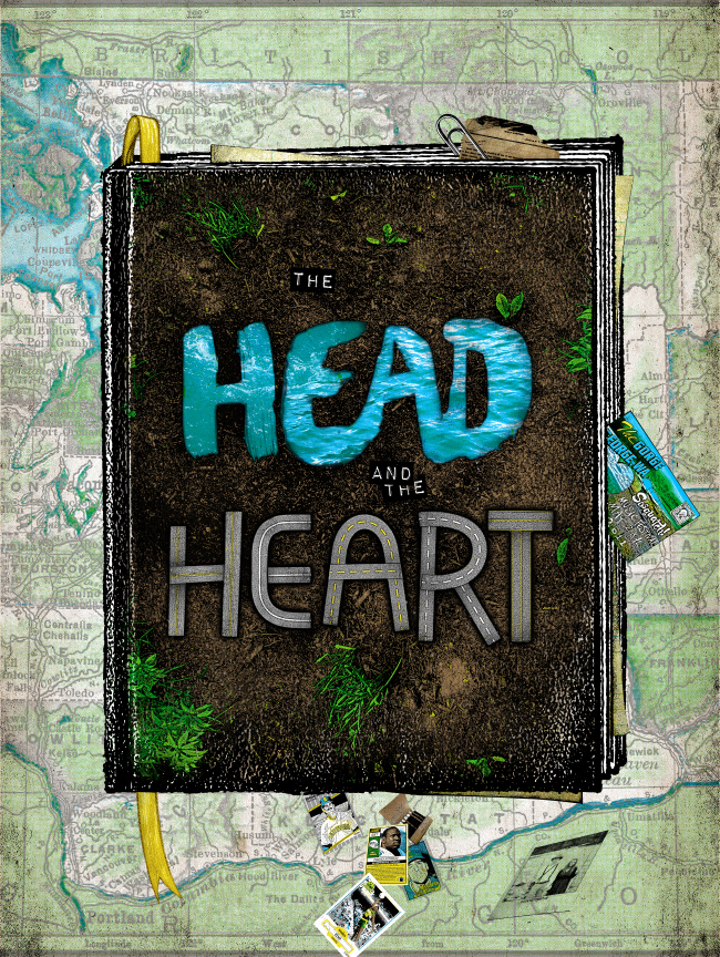 The Head and the Heart Sasquatch print and MORE from Jon Smith-