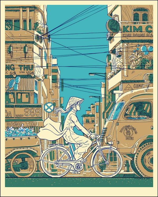 Vietnam on Wheels print by Doyle at Nakatomi!
