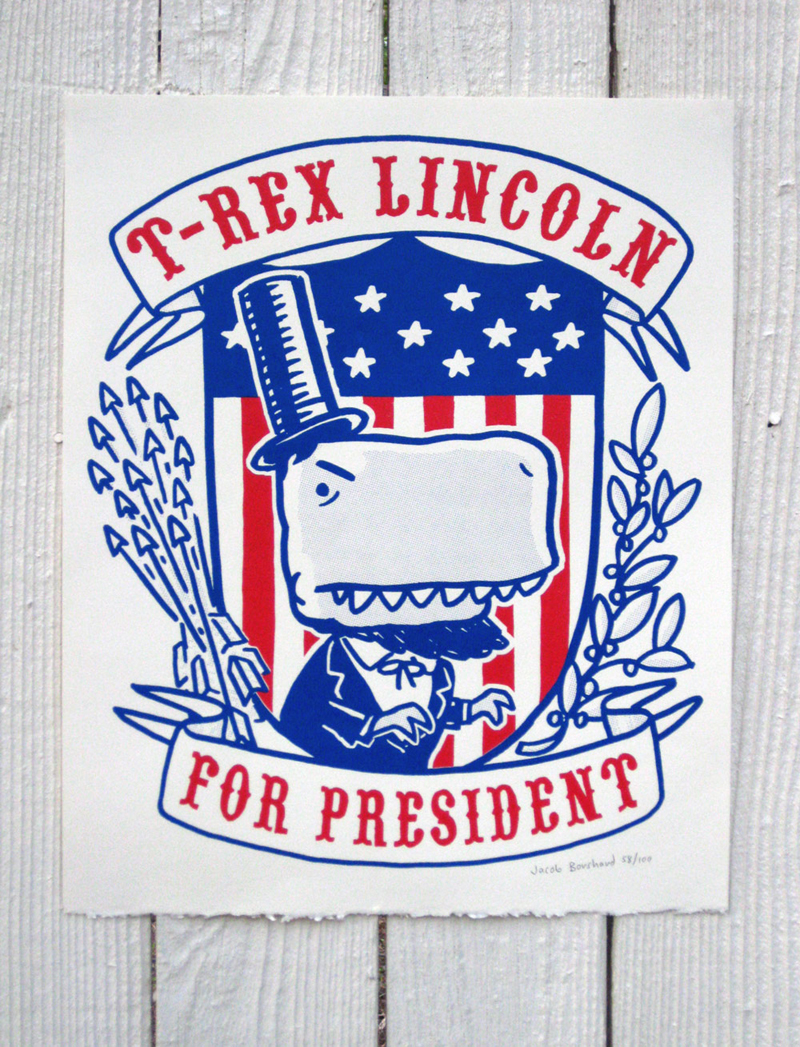 T-REX Lincoln for PRESIDENT! Shirt and Poster