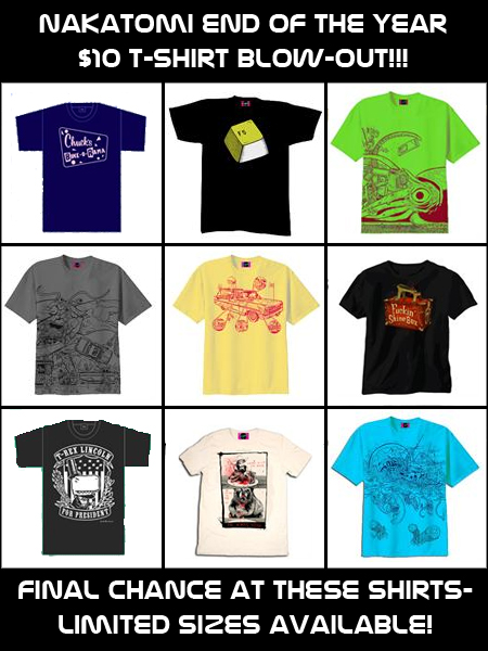 $10 End of the Year T-Shirt BLOW-OUT!