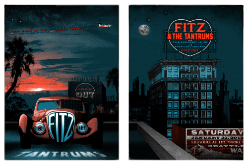 FITZ & the TANTRUMS / ELVIS COSTELLO Gigposters by Jon SMITH!