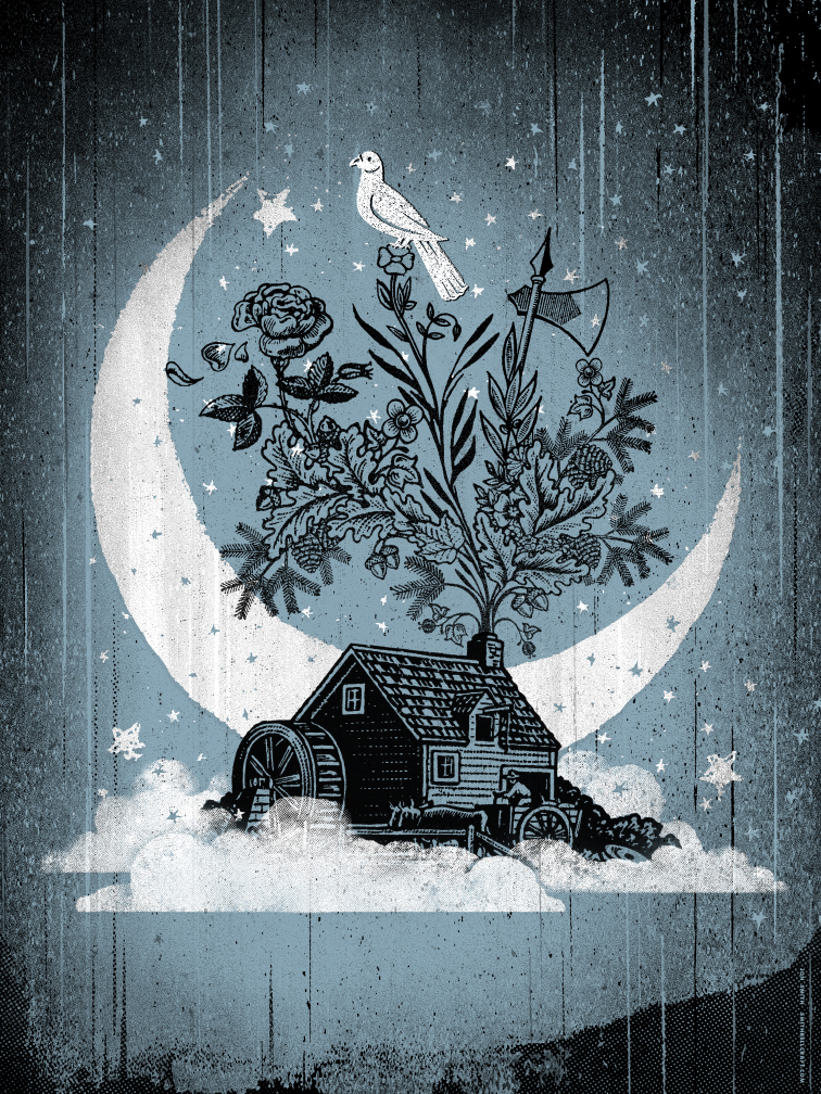 Jon Smith's 'Clouded House' art print and shirt!