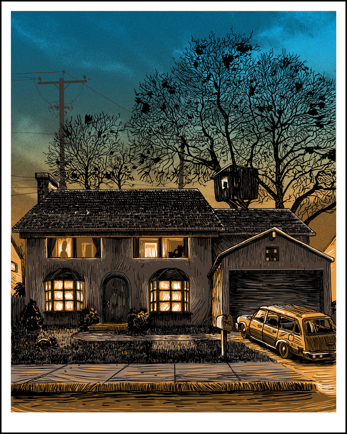 UnReal Estate- TIMED release print- 742 Evergreen Terrace- ON SALE NOW!