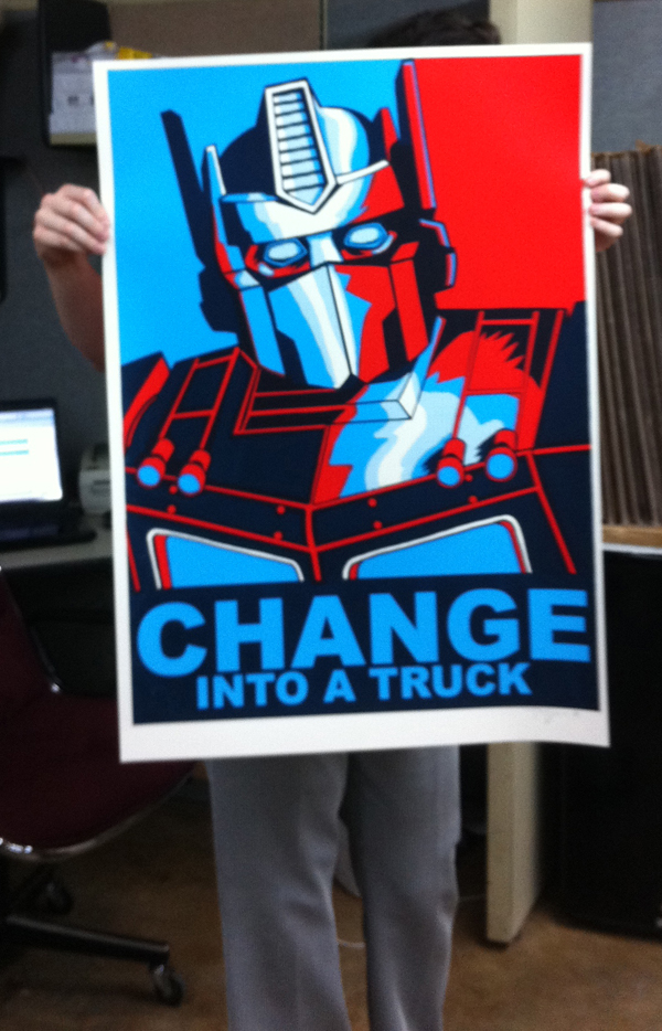 New FREEBIE- GIANT SIZED Change Into a Truck-