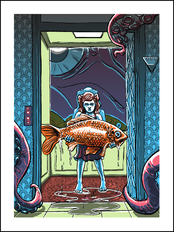 'The Sea Also Rises- Goldie's Big Break'- art print by Doyle!