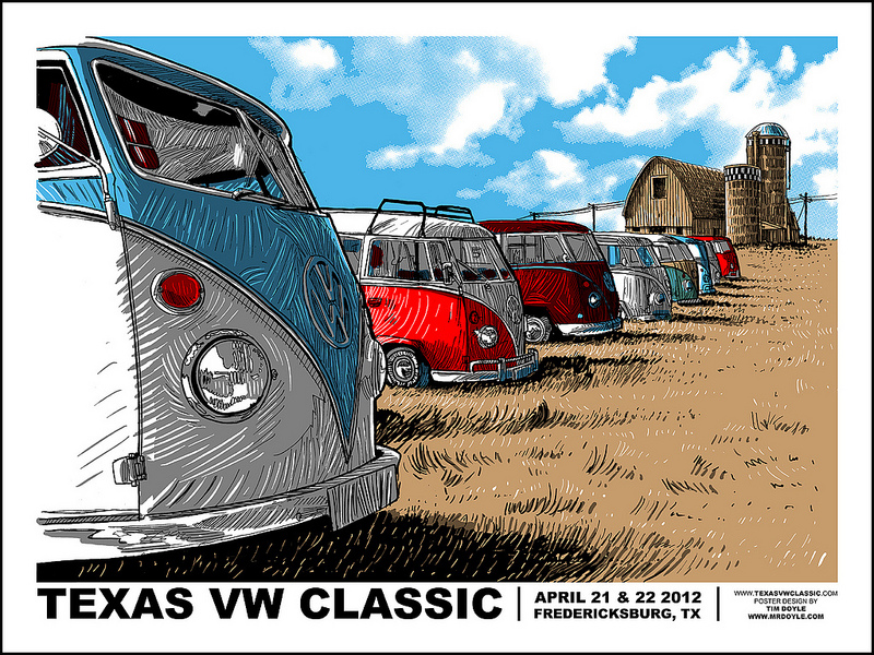Texas VW Classic print- Now Available!