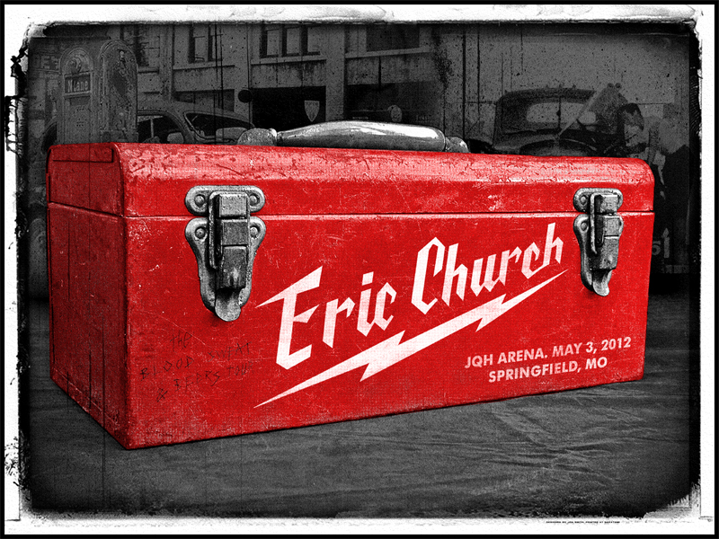 New Eric Church Gigposters from Jon Smith and Tim Doyle