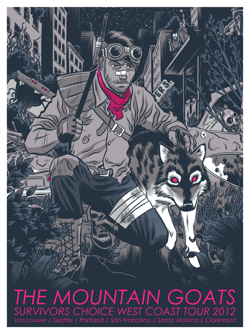 The Mountain Goats- tour posters by Robert Wilson IV