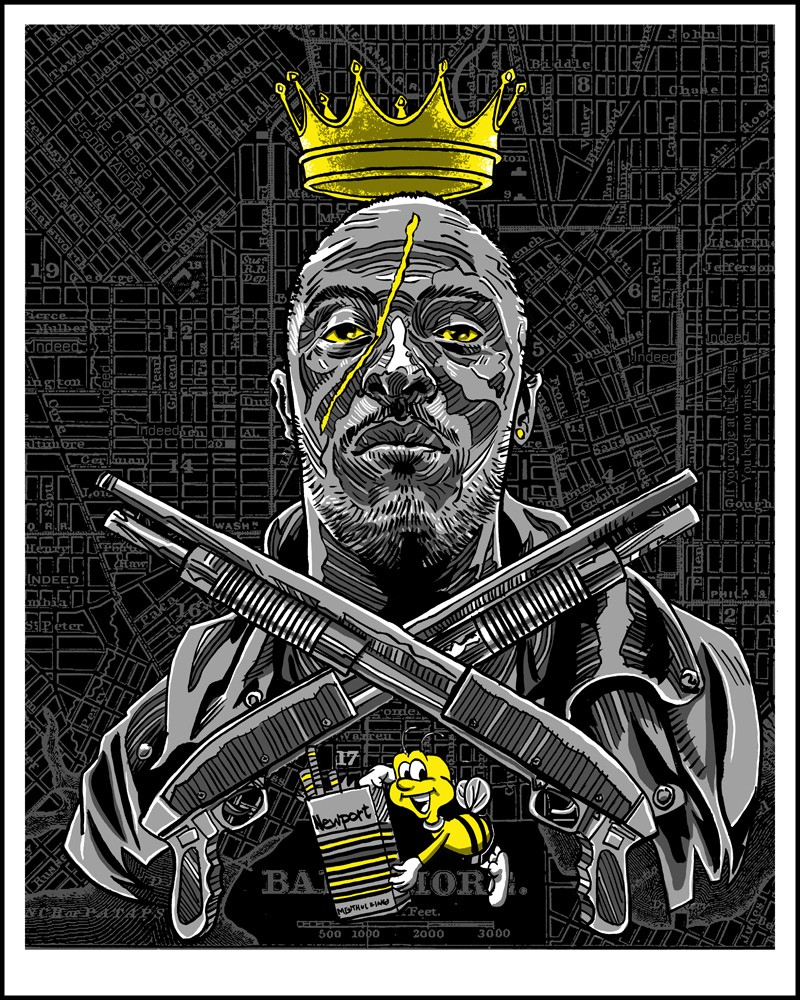 """King of Baltimore"" THE WIRE inspired print by Doyle- now available"