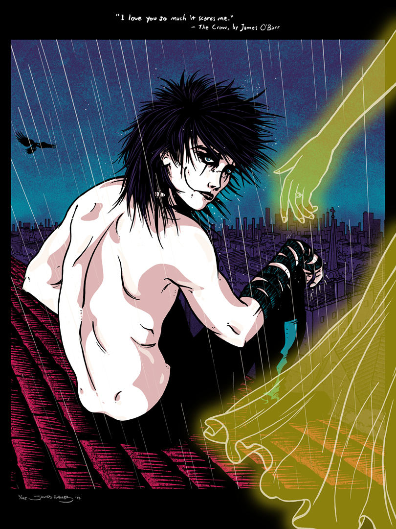 """""""The Crow"""" glow in the dark print by James Flames- onsale info!"""