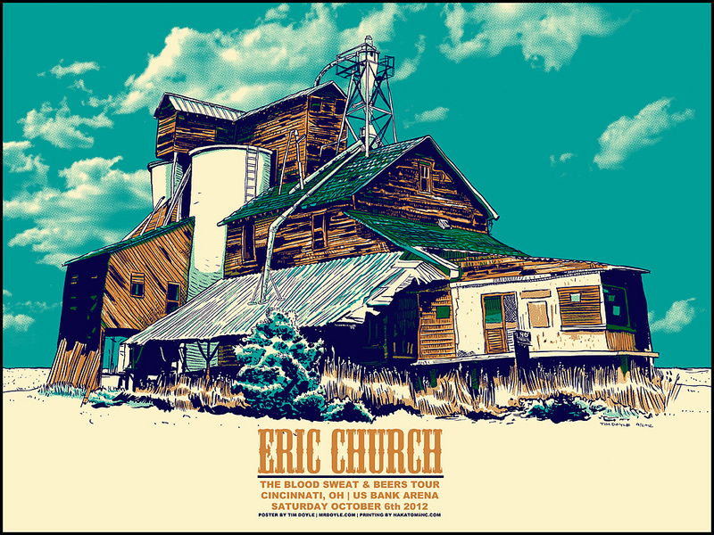 Eric Church posters by Smith and Doyle- now on sale!