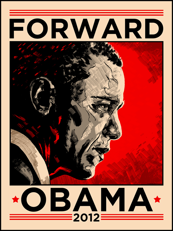 Obama 2012 Print by Doyle- Timed Release