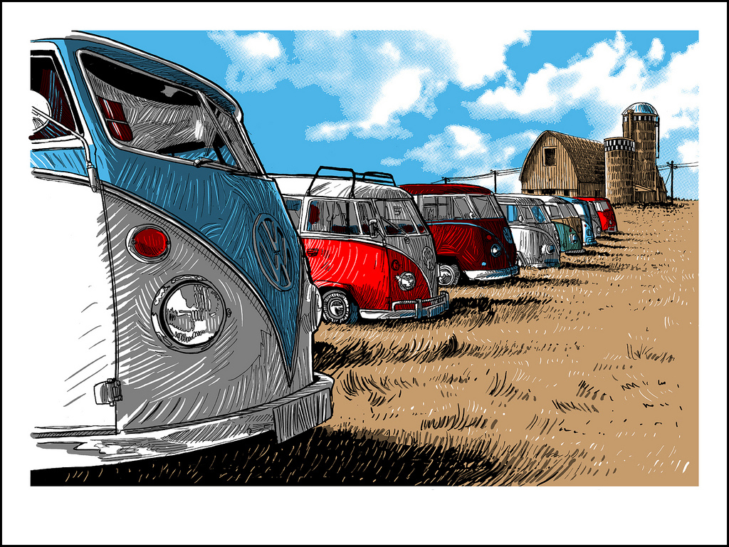 Victory Wagon!- art print by Tim Doyle