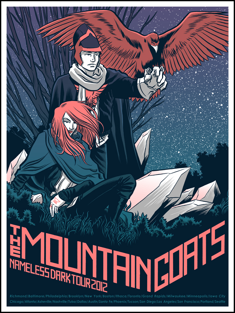 THE MOUNTAIN GOATS and OF MONTREAL gigposters by Robert Wilson IV!