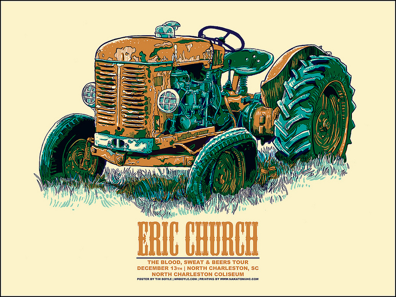 2 New Eric Church Posters by Doyle!