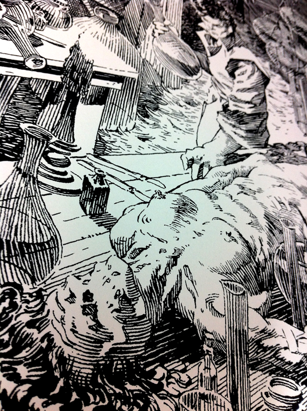 Bernie Wrightson's FRANKENSTEIN limited edition screenprints- available Tuesday 3/12