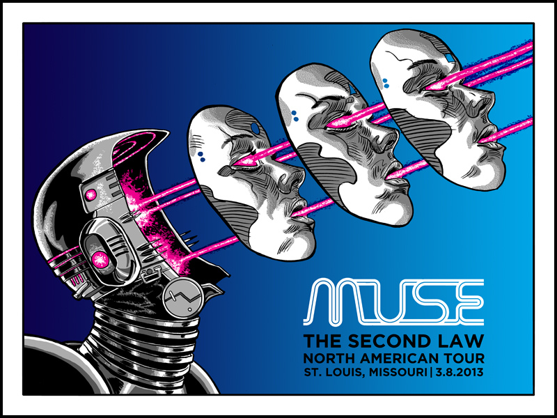 MUSE- tour posters by Tim Doyle- Onsale NOW