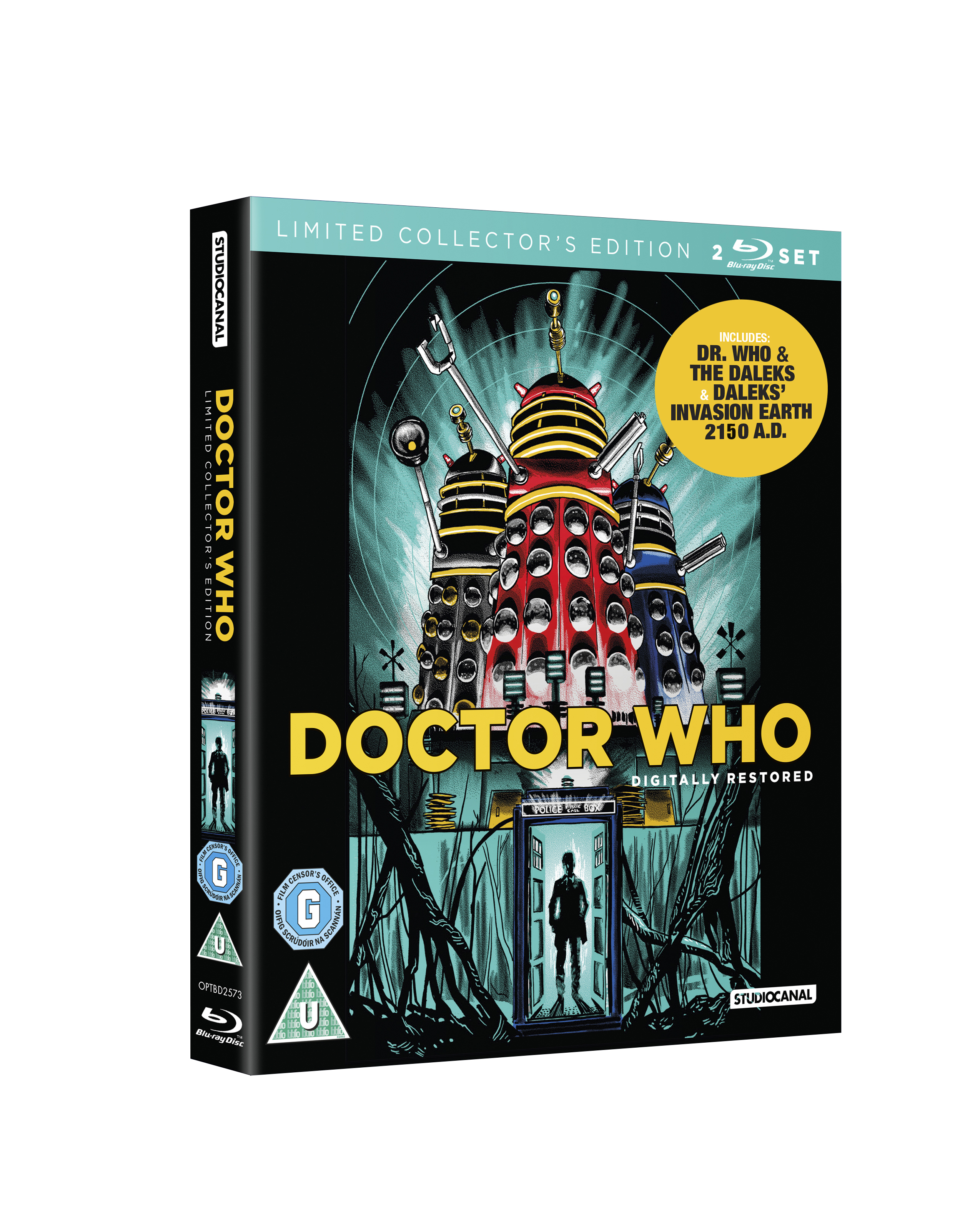 Doctor Who and the Daleks print- now a BLU-RAY cover!