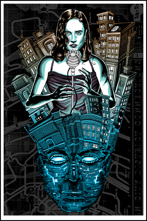 "Dark City Doyle print for- ""Where Is My Mind"" show at Bottleneck NYC"