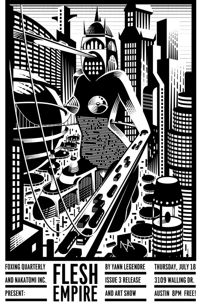 FLESH EMPIRE- print series by Yann Legendre- Foxing Quarterly event on 7/18!
