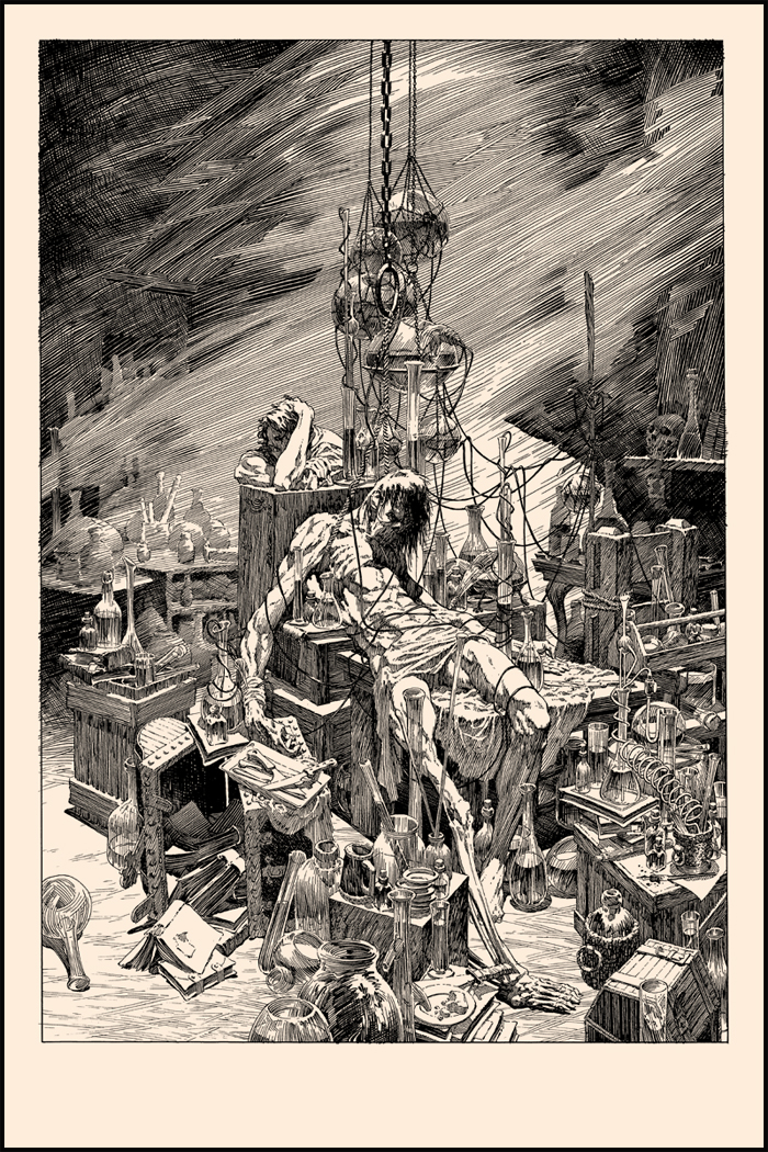 "Wrightson's Frankenstein- ""A Torrent of Light Into Our Dark World"" onsale info!"