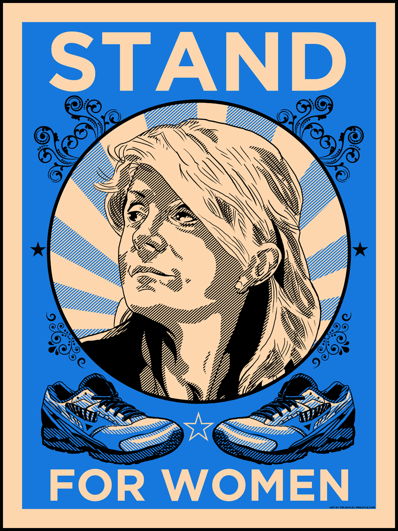 STAND WITH WENDY- official Texas Democratic Party prints by Doyle!