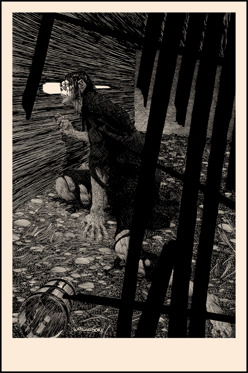 """Close Attention"" Frankenstein print by Bernie Wrightson"