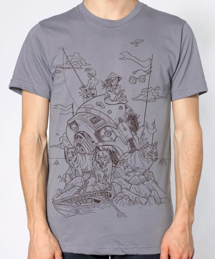 "New Sea Also Rises t-shirt- ""Wolves of Mekhead"" +FREE OFFER!"