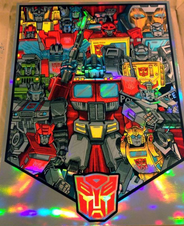 NEW- Transformers prints by Doyle- Holofoil AP copies now available!