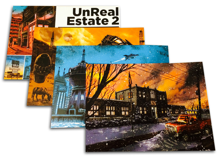 UnReal Estate series 2- POSTCARD SETS now available!